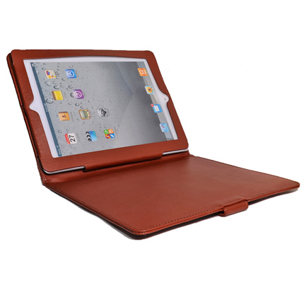 Classic iPad2 Budget Brown Leather Case