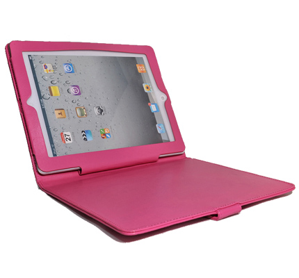 Classic iPad2 Budget Pink Leather Case