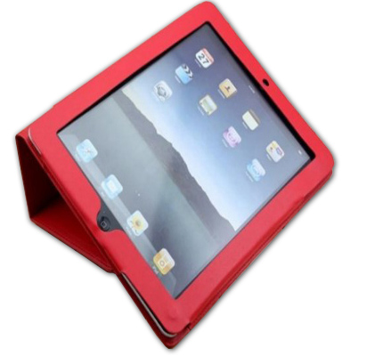 Red CaseBuddy iPad2 Leather Case