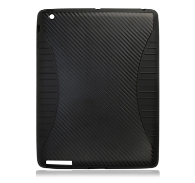 Silicone Carbon Case for Apple iPad 2